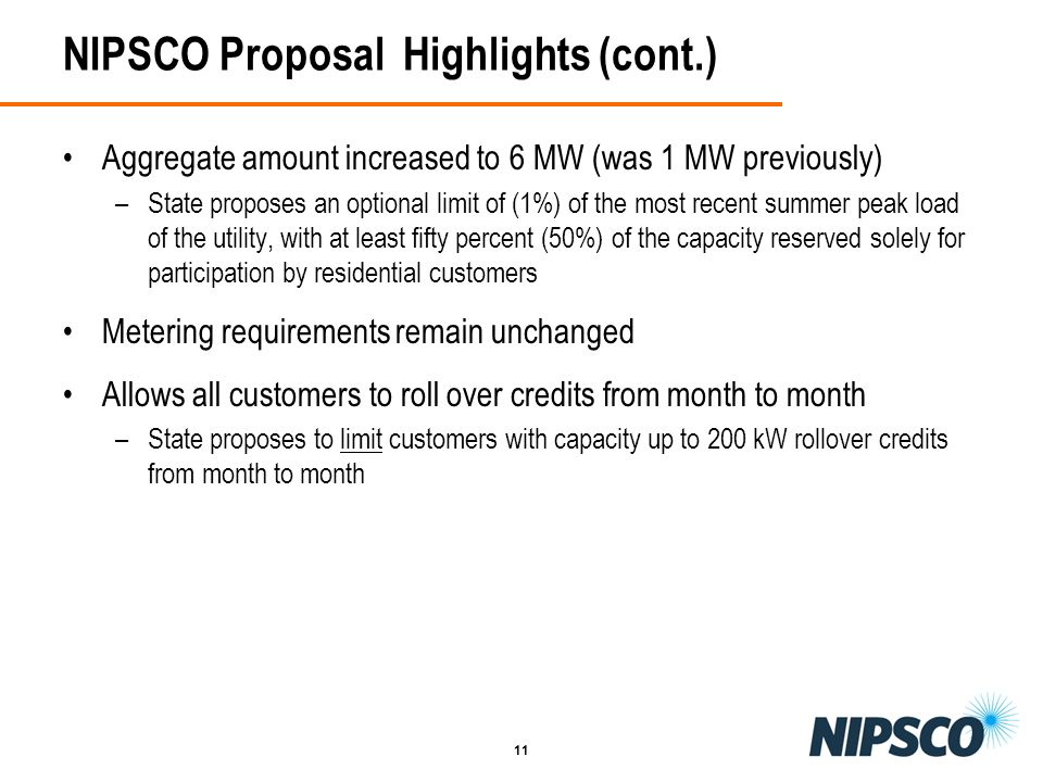 NIPSCO Proposal Highlights (cont.)