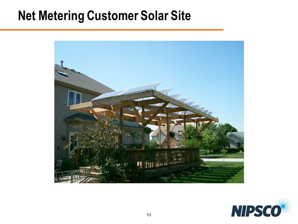 Net Metering Customer Solar Site