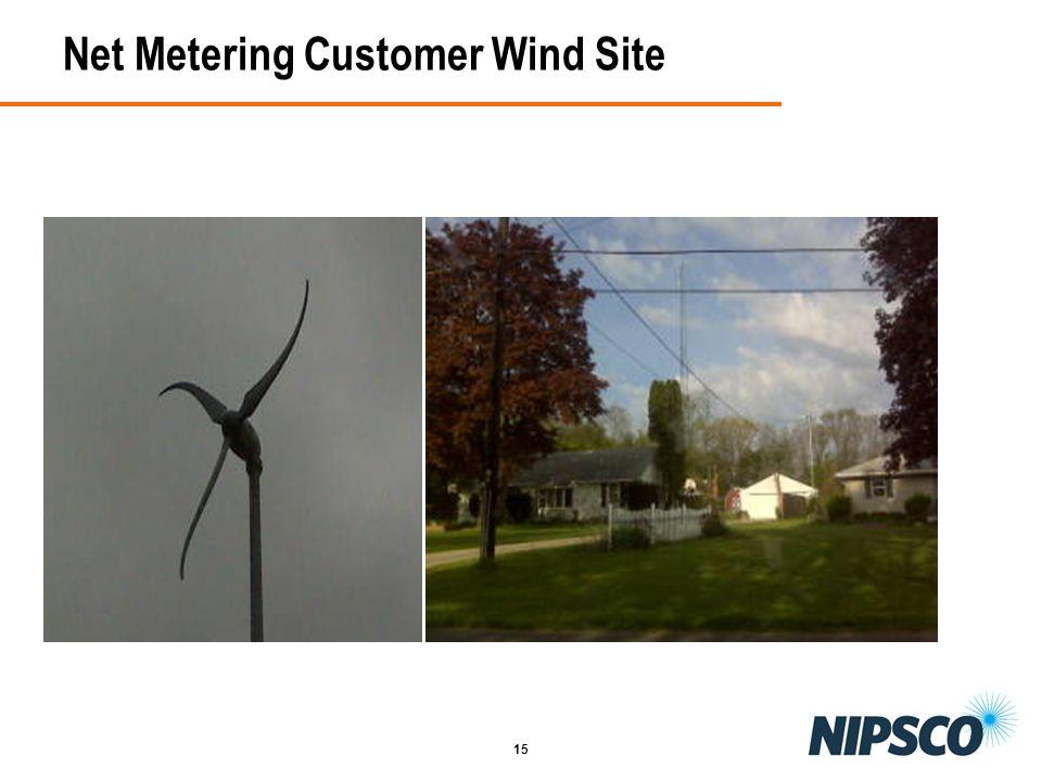 Net Metering Customer Wind Site