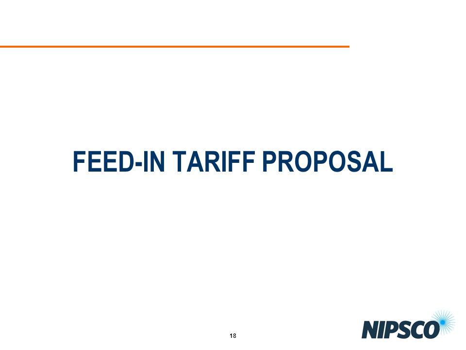FEED-IN TARIFF PROPOSAL