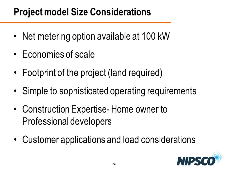 Project model Size Considerations