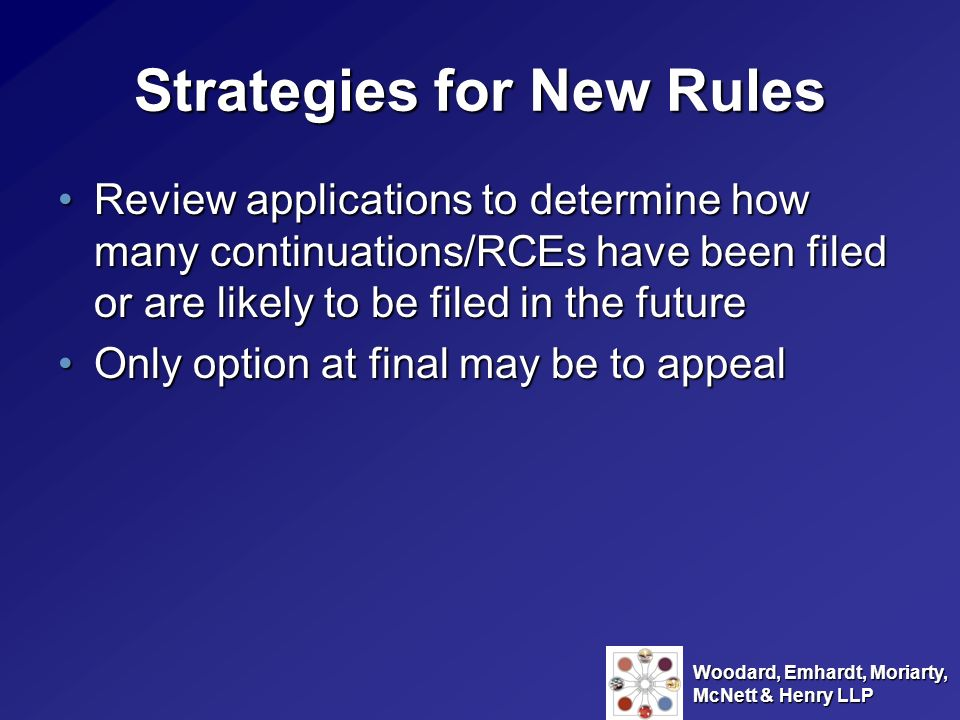 Strategies for New Rules