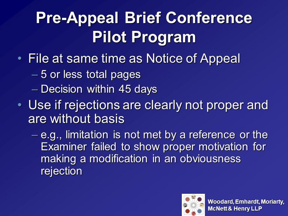 Pre-Appeal Brief Conference Pilot Program
