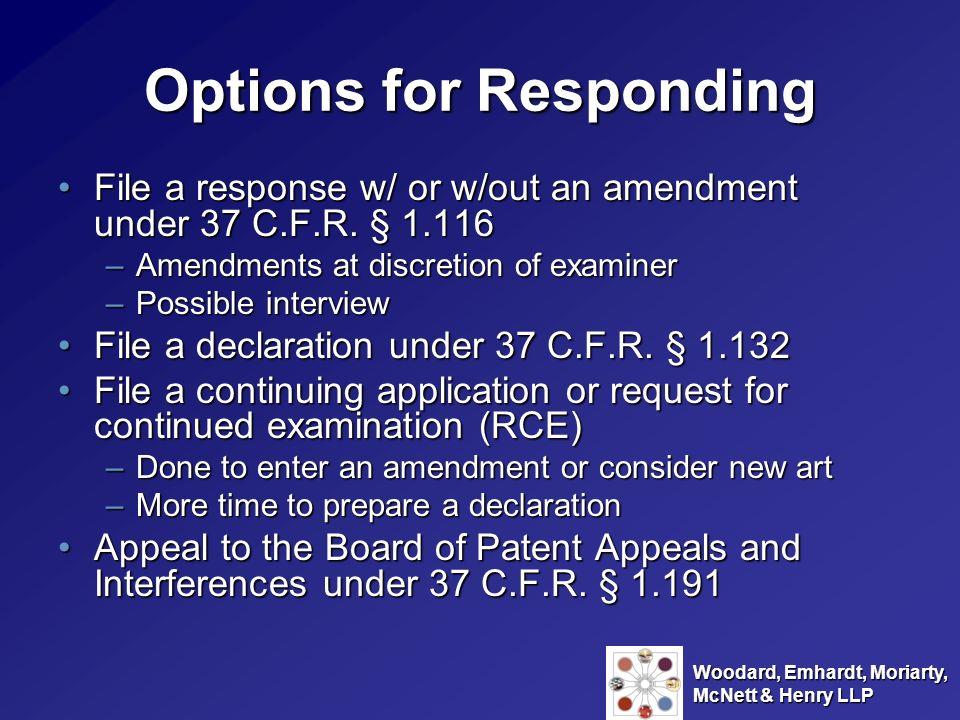 Options for Responding