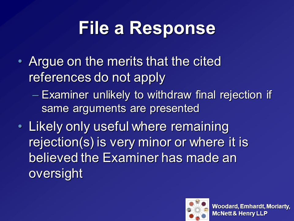 File a Response Argue on the merits that the cited references do not apply.