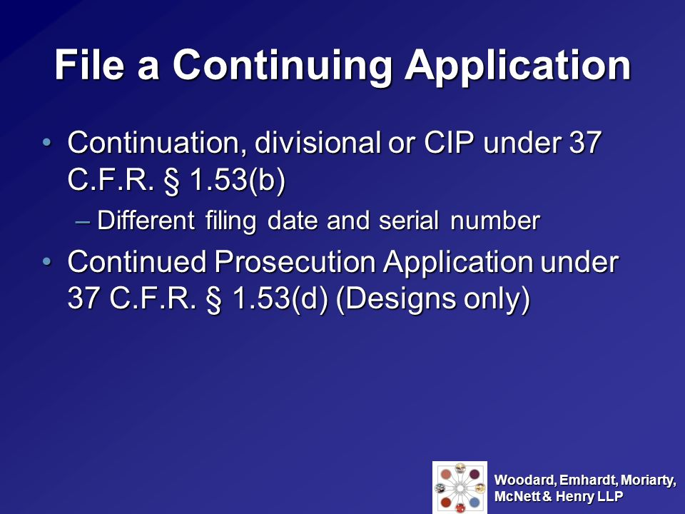 File a Continuing Application