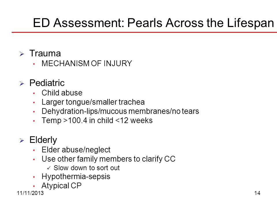 ED Assessment: Pearls Across the Lifespan