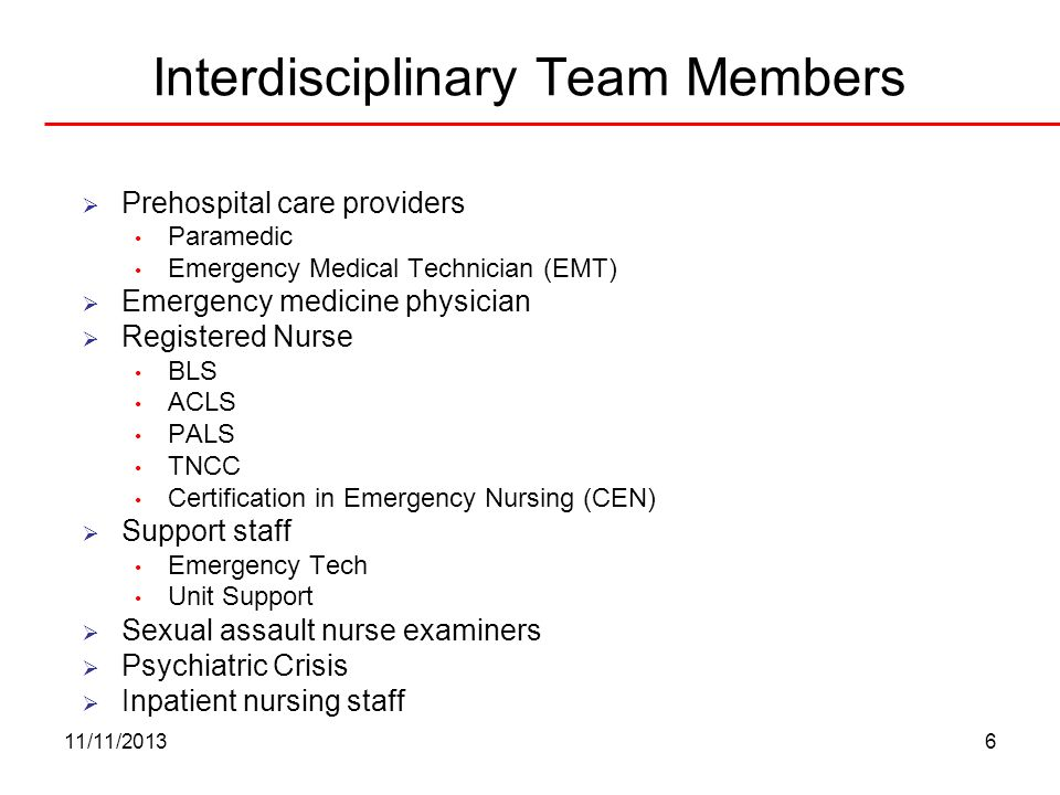 Interdisciplinary Team Members