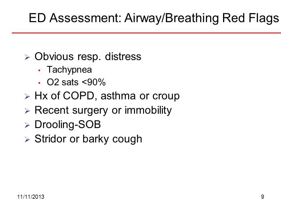 ED Assessment: Airway/Breathing Red Flags