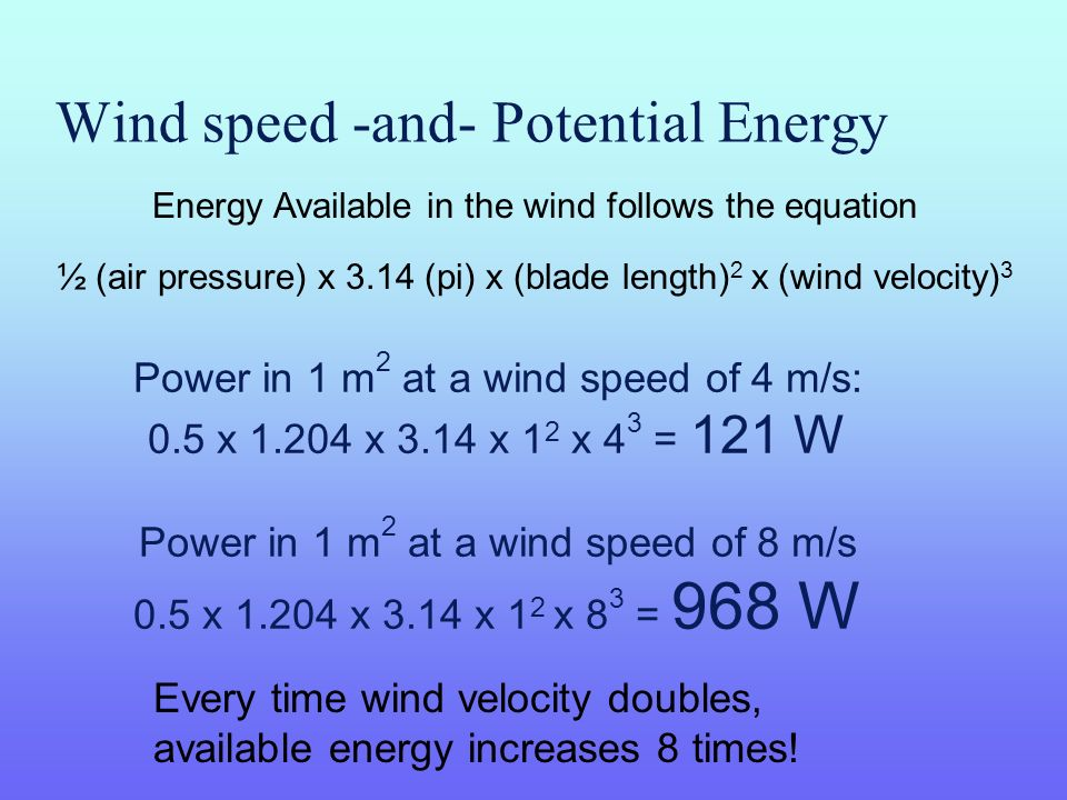 Wind speed -and- Potential Energy