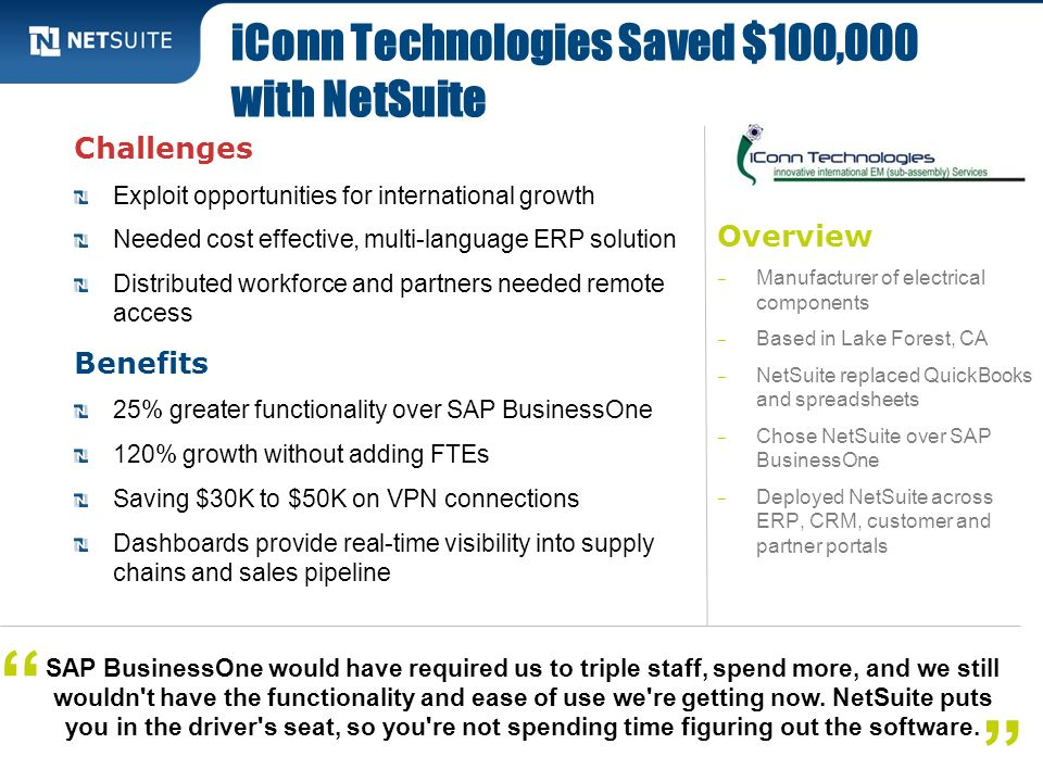 iConn Technologies Saved $100,000 with NetSuite