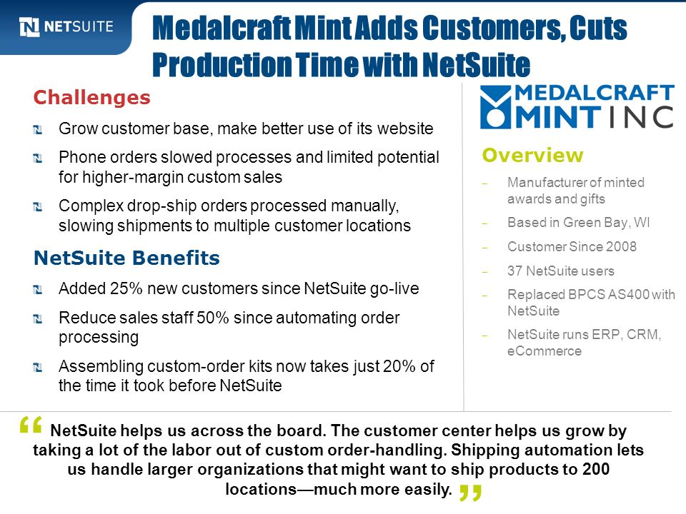 Medalcraft Mint Adds Customers, Cuts Production Time with NetSuite