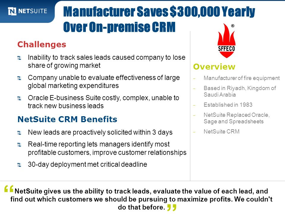 Manufacturer Saves $300,000 Yearly Over On-premise CRM