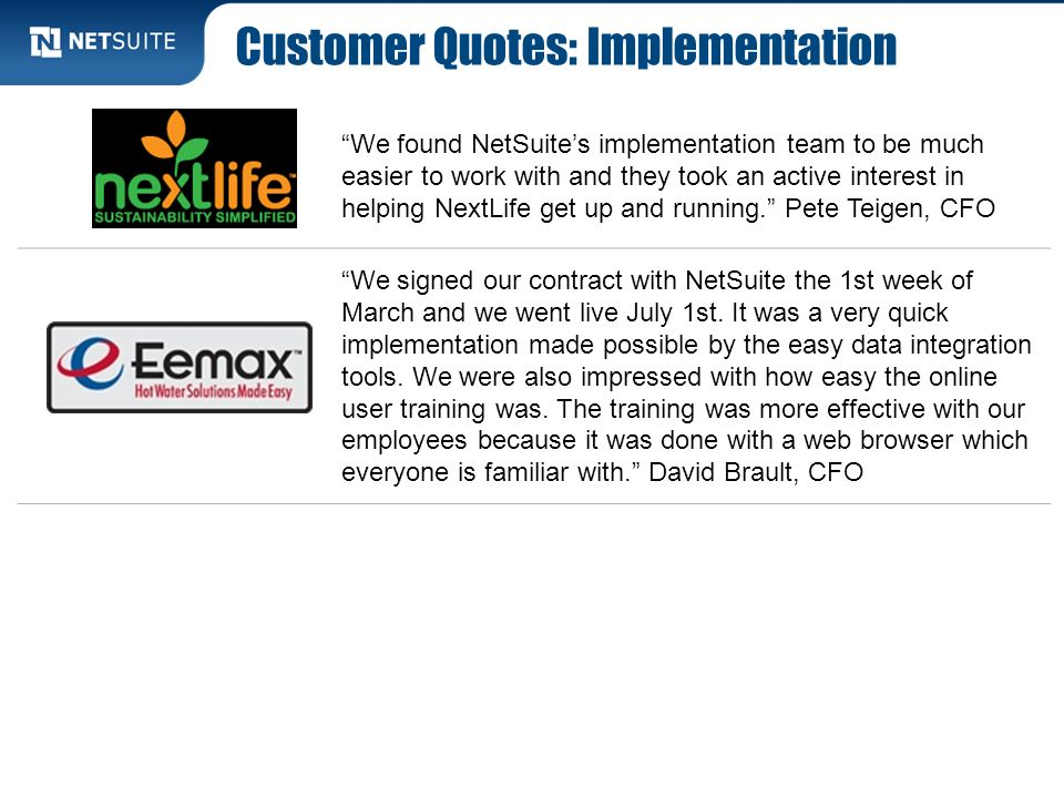 Customer Quotes: Implementation