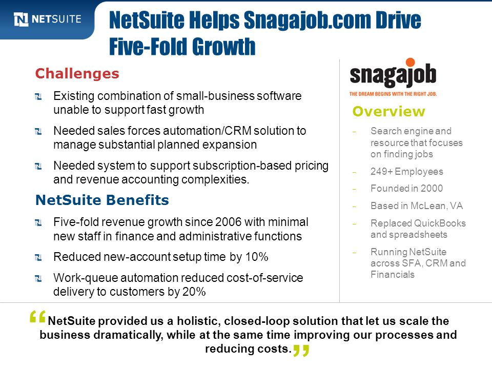NetSuite Helps Snagajob.com Drive Five-Fold Growth