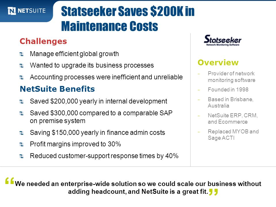 Statseeker Saves $200K in Maintenance Costs