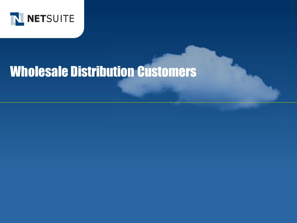 Wholesale Distribution Customers