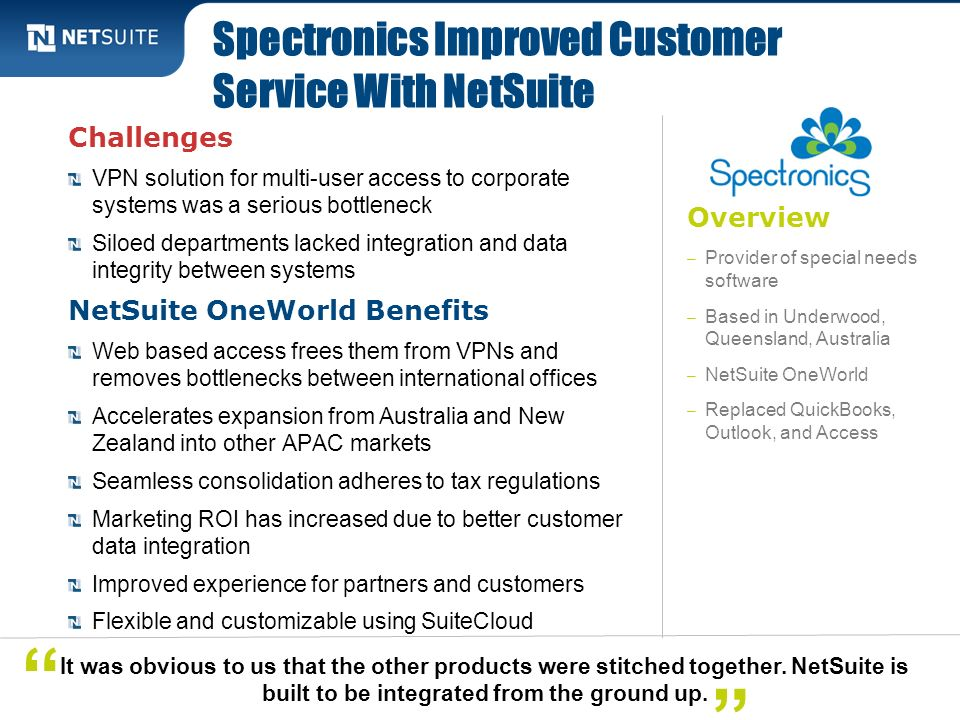 Spectronics Improved Customer Service With NetSuite