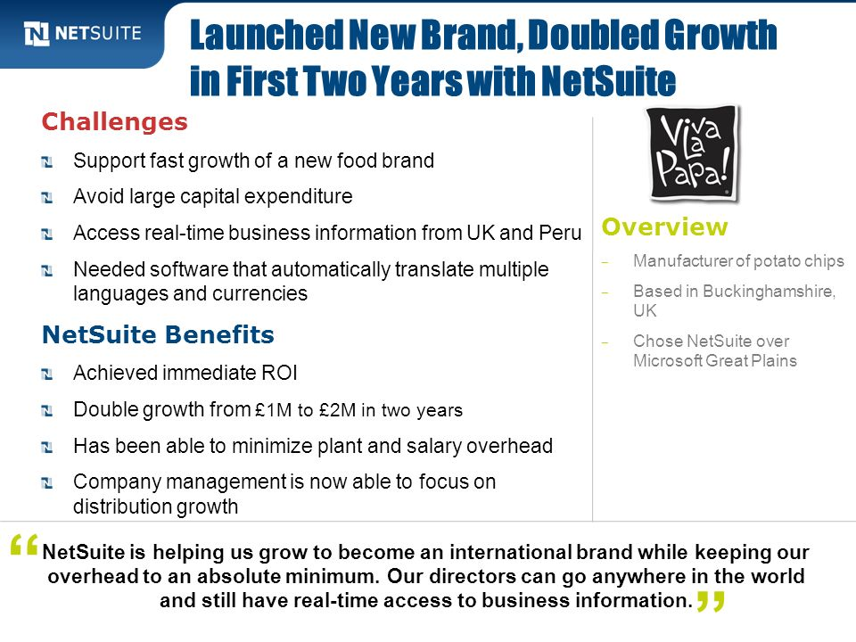 Launched New Brand, Doubled Growth in First Two Years with NetSuite