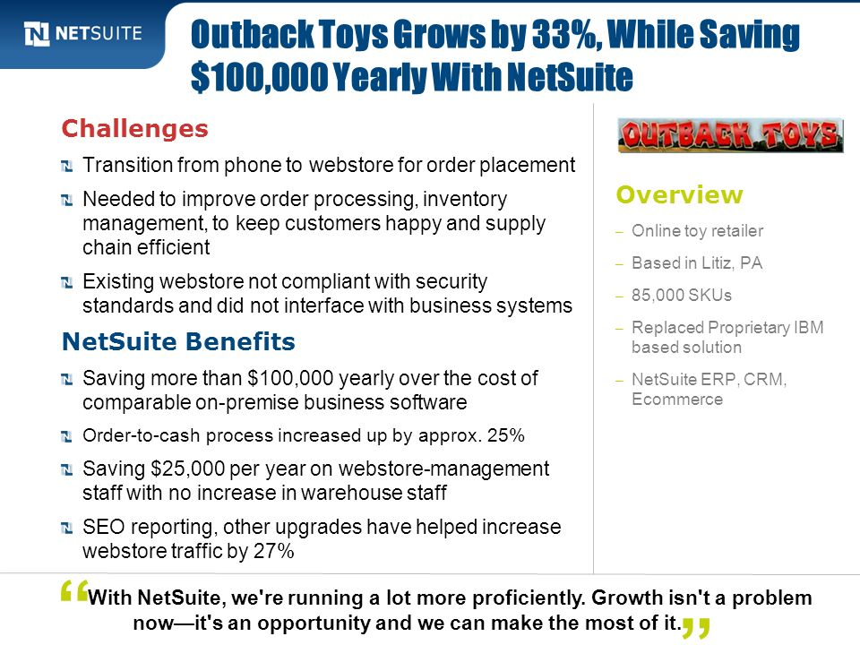 Outback Toys Grows by 33%, While Saving $100,000 Yearly With NetSuite