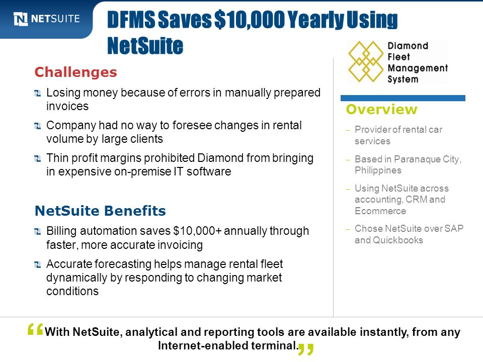 DFMS Saves $10,000 Yearly Using NetSuite