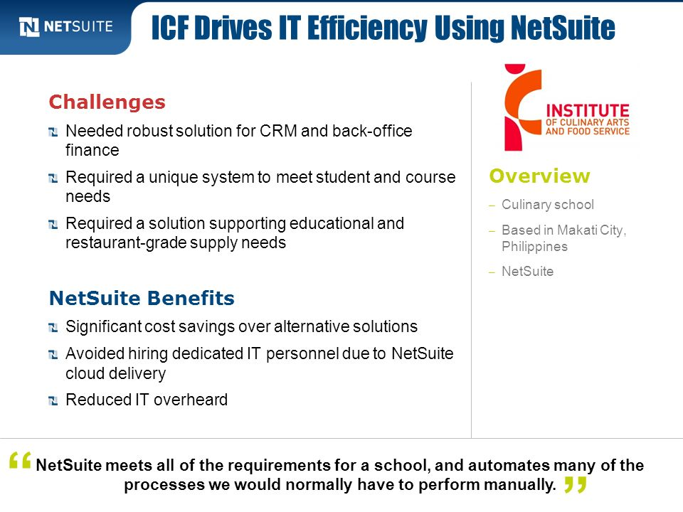 ICF Drives IT Efficiency Using NetSuite
