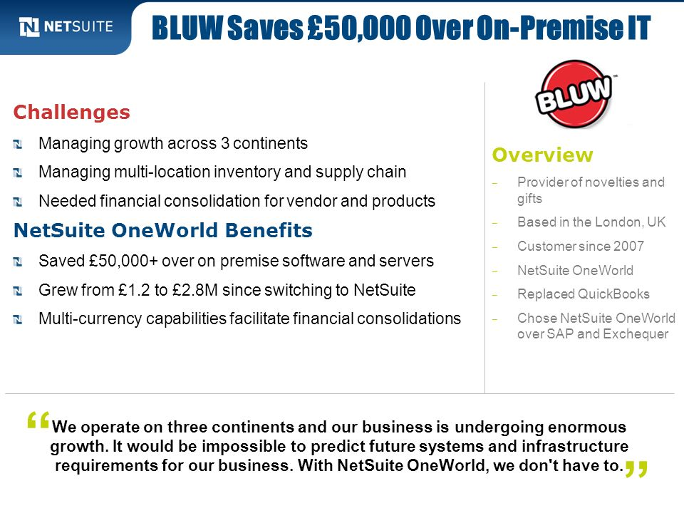 BLUW Saves £50,000 Over On-Premise IT