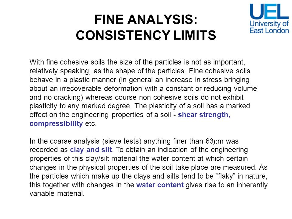 FINE ANALYSIS: CONSISTENCY LIMITS
