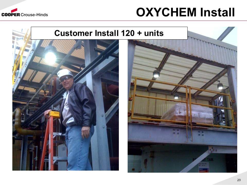 Customer Install 120 + units