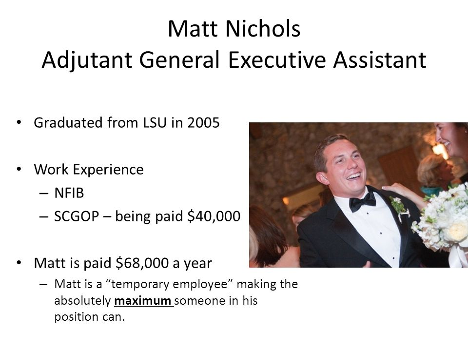 Matt Nichols Adjutant General Executive Assistant