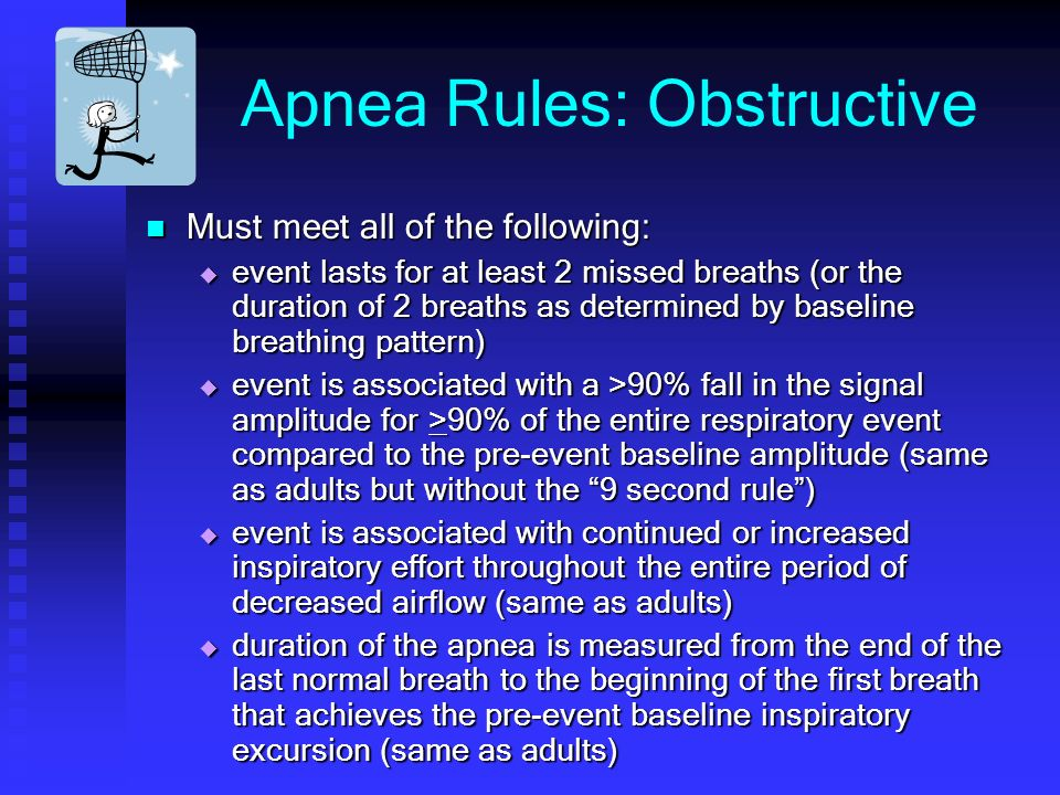 Apnea Rules: Obstructive