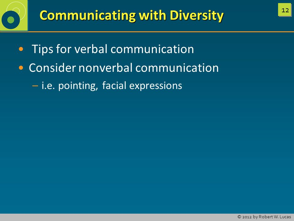 Communicating with Diversity