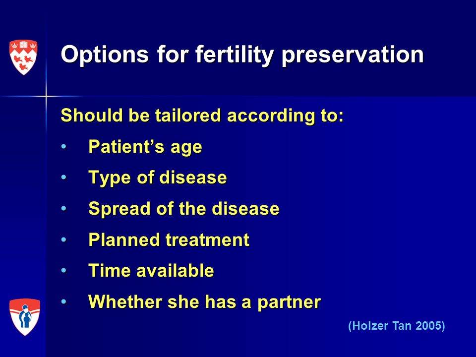 Options for fertility preservation