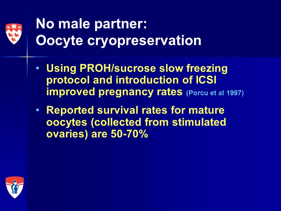 No male partner: Oocyte cryopreservation