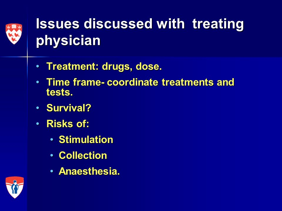 Issues discussed with treating physician