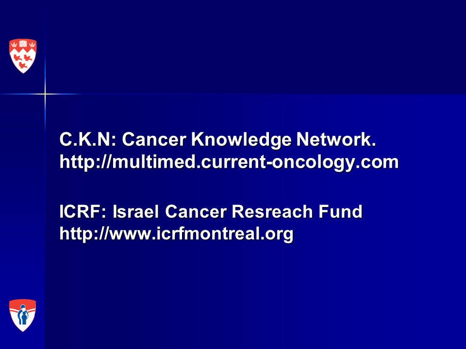 C.K.N: Cancer Knowledge Network. http://multimed.current-oncology.com