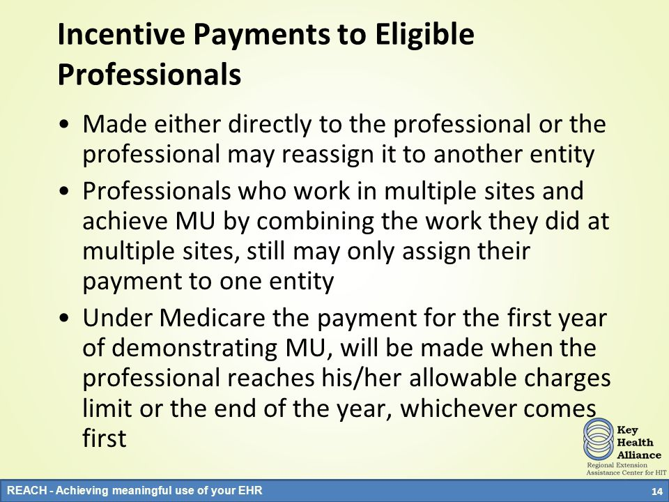 Incentive Payments to Eligible Professionals
