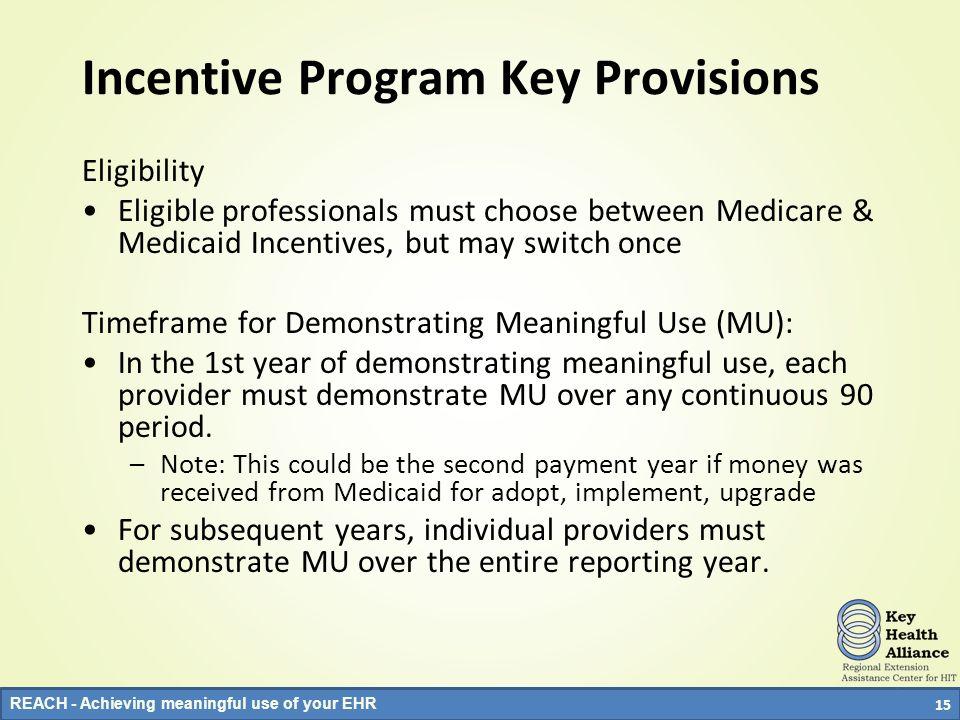 Incentive Program Key Provisions