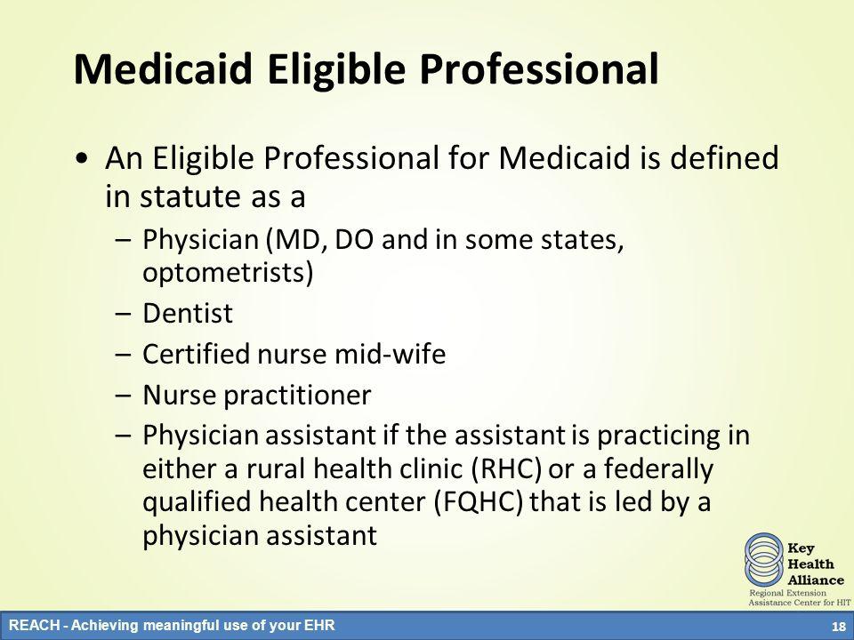Medicaid Eligible Professional