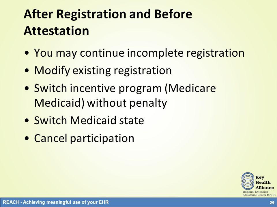After Registration and Before Attestation