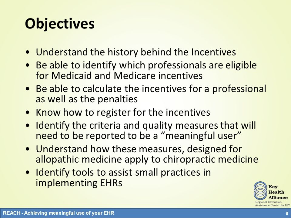 Objectives Understand the history behind the Incentives