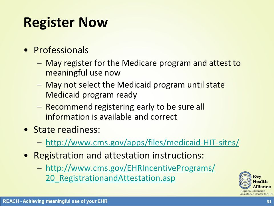 Register Now Professionals State readiness: