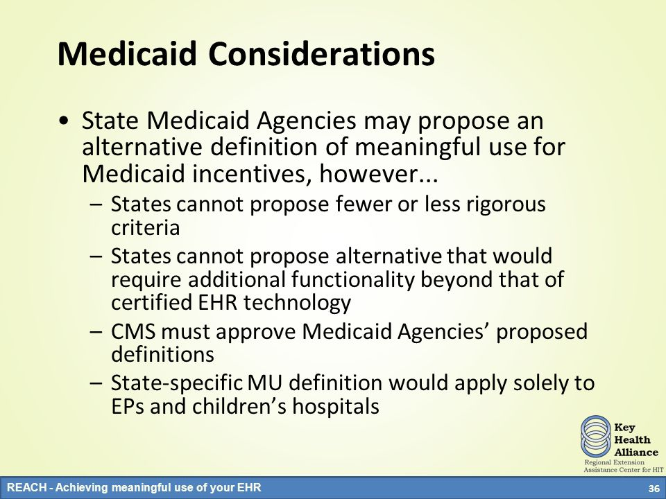 Medicaid Considerations