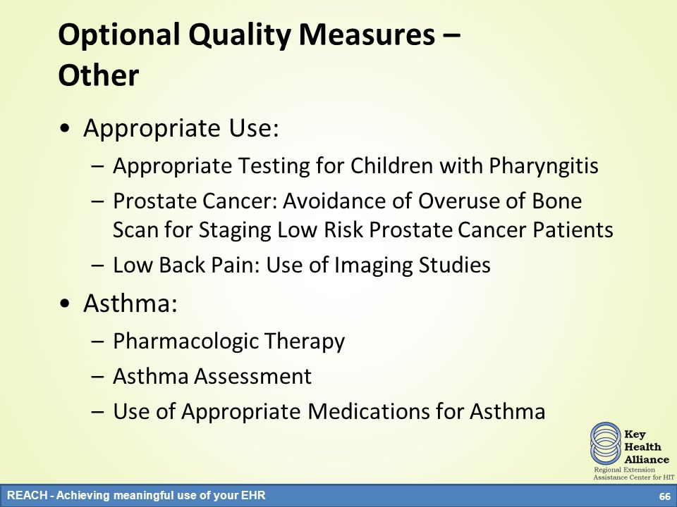 Optional Quality Measures – Other