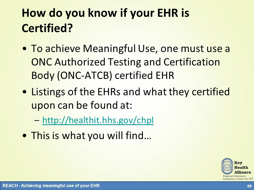 How do you know if your EHR is Certified