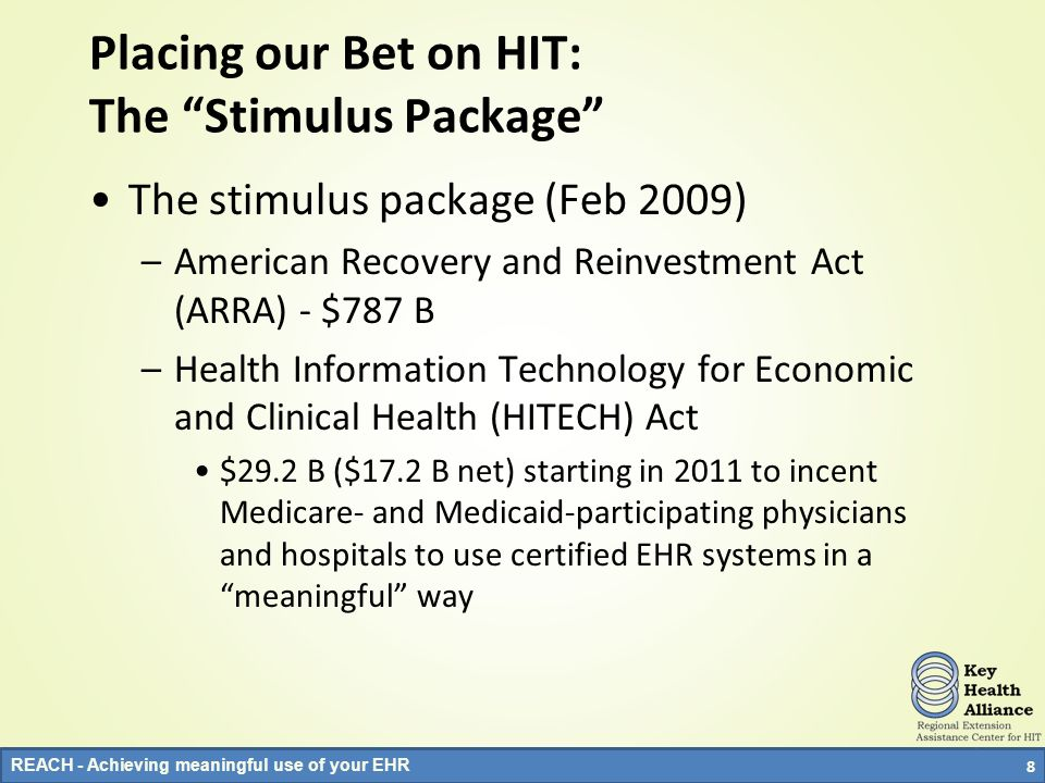 Placing our Bet on HIT: The Stimulus Package