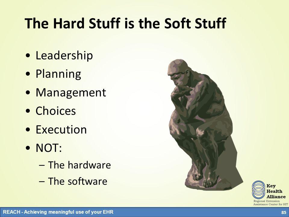 The Hard Stuff is the Soft Stuff
