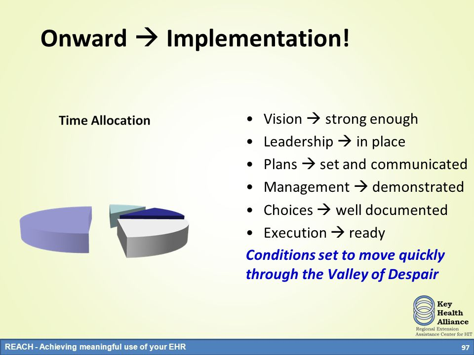 Onward  Implementation!