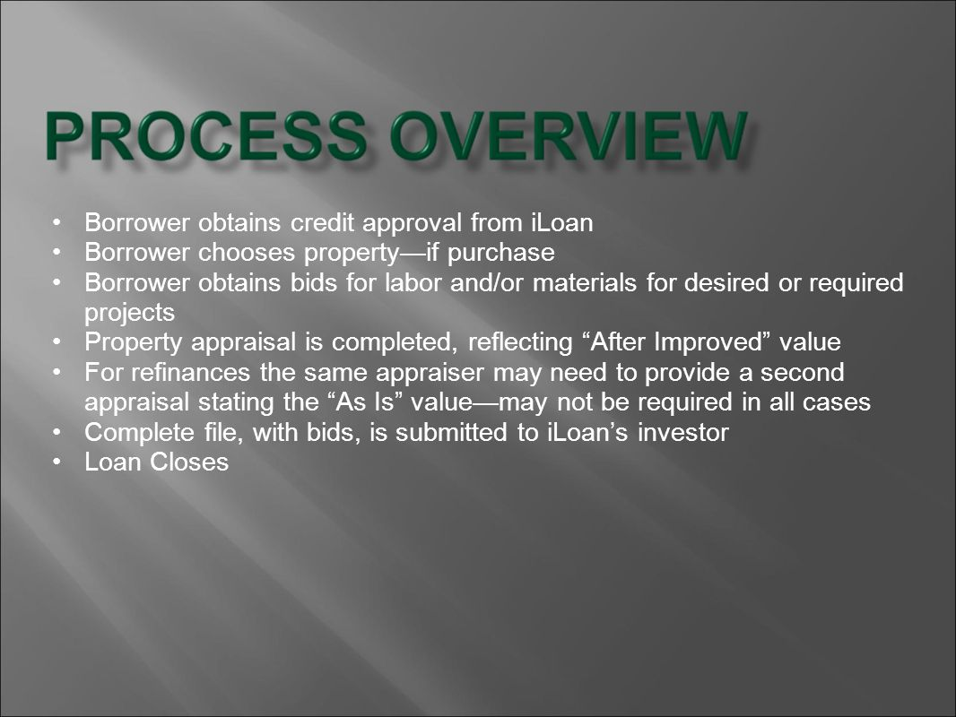 Borrower obtains credit approval from iLoan
