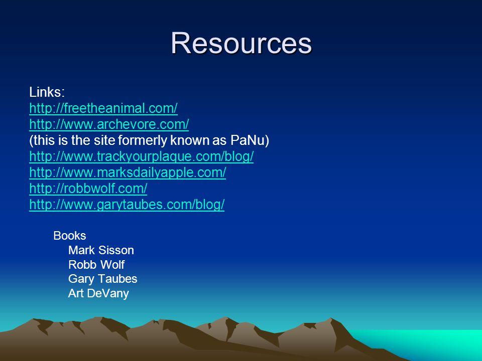 Resources Links: http://freetheanimal.com/ http://www.archevore.com/